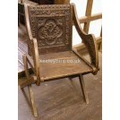 Carved Back X Leg Chair