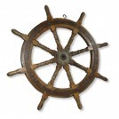 Large Wooden Ships Wheel