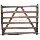 Wooden Fencing with Diagonal Braces