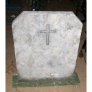 Headstone with carved cross detail
