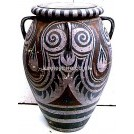 Greek Decorated Clay Urn