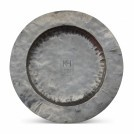 Large Hammered silver Plate