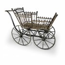 Early Wood Spindle Pram