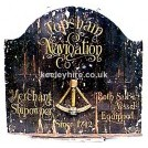 Topshain Navigaton Wood Sign