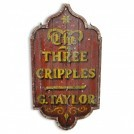 The Three Cripples Wood Sign