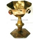 Hexagonal Brass Chalice
