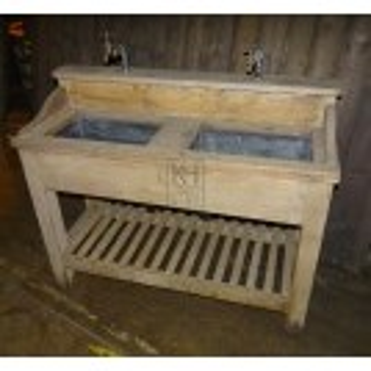 Wooden Double Sink Unit