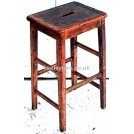 Tall wood stool