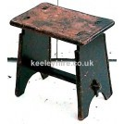 Black rectangular wooden stool