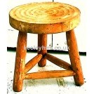 Light wood round stool