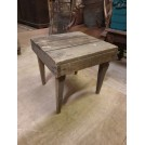 Plain square wood stool