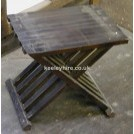 Stool with slatted legs
