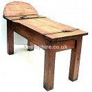 Round end mortuary table