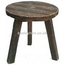 Dark wood round table