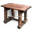 Rough wood table with beam