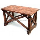 Wood X-frame table