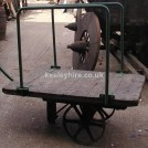 2 Wheel Railway Trolley With Iron Sides