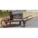 Green/Red Vinegar Barrel Wheel Barrow