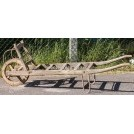 Early wood slatted wheelbarrow