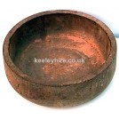 Large Shallow Wood Bowl