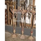 Ornate floor-standing iron oil lamps #2