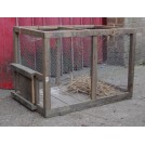 Rectangle wood and mesh cage