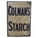 Rectangular Colmans Starch Sign