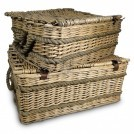 Rectangle Wicker Basket With Rope handle