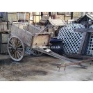 Large Slatted OxCart with Spoked Wheels