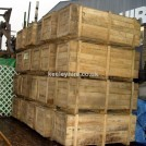 Large wood packing crate