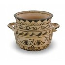 Greek Pottery Bowl with Eyes Pattern