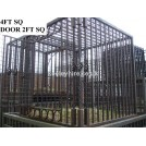 Large iron cage with square door