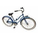 Blue US Bicycle with mudguards