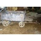 Small wood cart with iron wheels