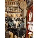 Large hanging shop scales & black scoop
