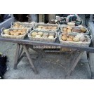 Market stall with pies