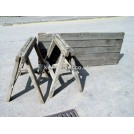 Pair of folding wood trestles