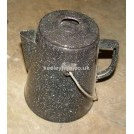 Grey speckled jug with lid