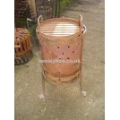 Brazier with iron grill