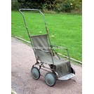 30s / 40s Green Canvas Pushchair