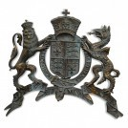 Aged Lion & Dragon Royal Crest