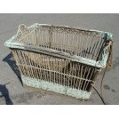 Large open wicker basket