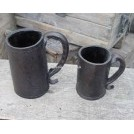 black leather straight tankards