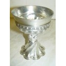 Ornate pewter chalice
