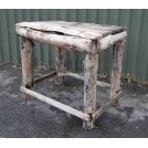 Rustic square wood table