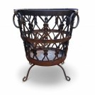 Large Ornate Iron Brazier