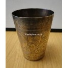 Small ornate brass beaker