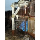 Medium wood gibbet post