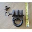 Early iron padlock & key