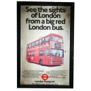 London Transport red bus sign